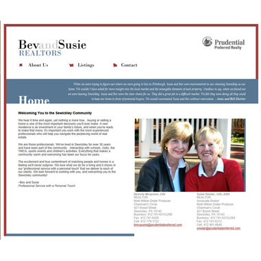 Website Redesign Bev and Susie REALTORS