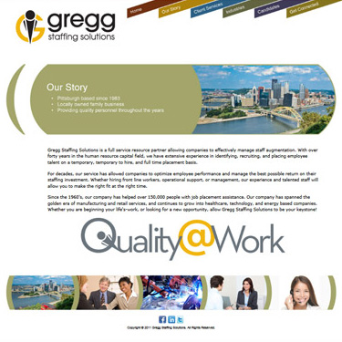 Website Redesign Gregg Staffing Solutions